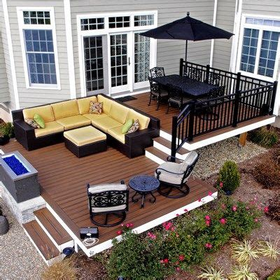 Curved Fire Pit Bench Best 25 Tiered Deck Ideas On Pinterest Two Level Deck