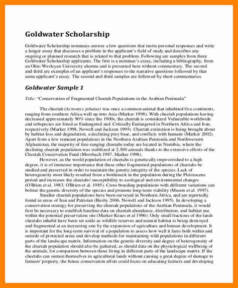 Exle Scholarship Essays by 8 Mba Scholarship Essay Exles New Wood