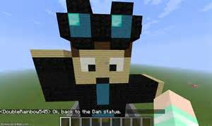 minecraft youtuber sculptures dantdm