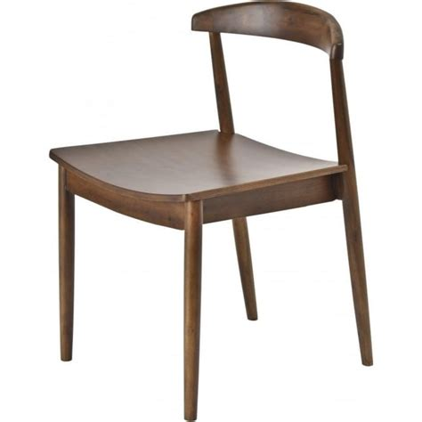 buy libra walnut wood retro dining chair from fusion