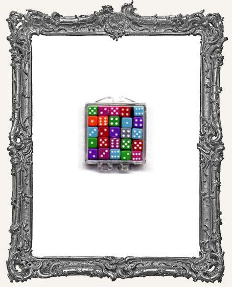 Dadu Dice Plastik 1 X 1 Mm 25 mini colored dice 5mm