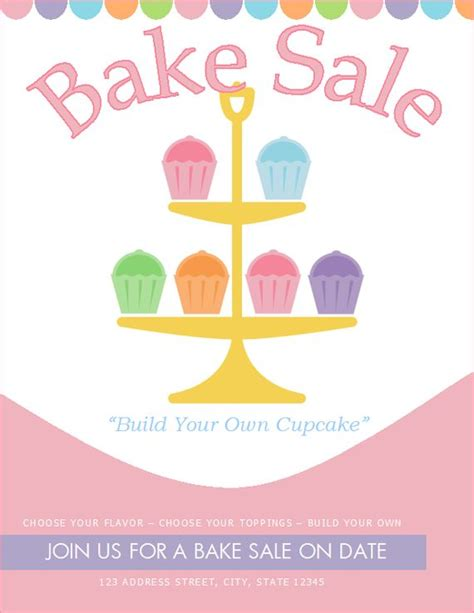 free bake sale flyer templates free bake sale flyer template http bakesaleflyers