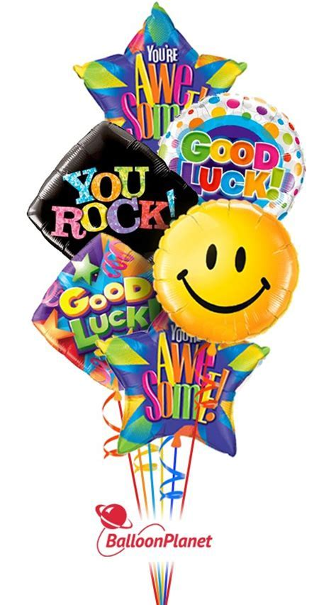 Good Luck Smiles Balloon Bouquet (6 Balloons)   Balloon