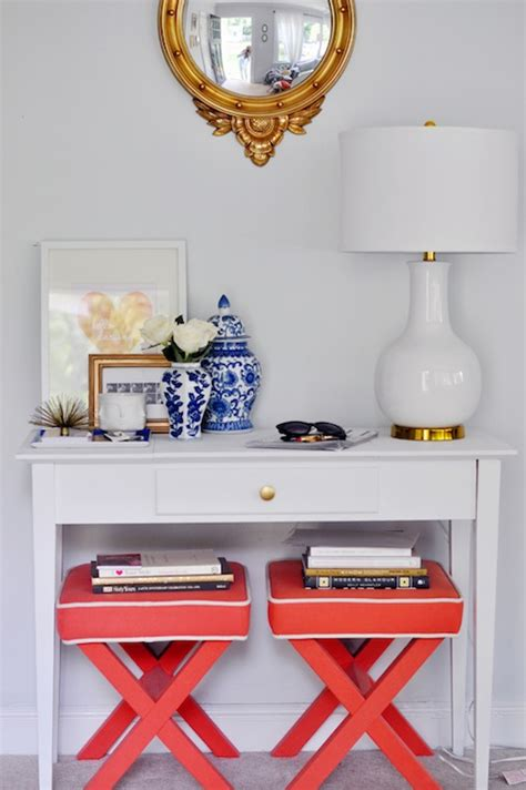 Entryway Table With Stools Underneath X Bench Design Ideas