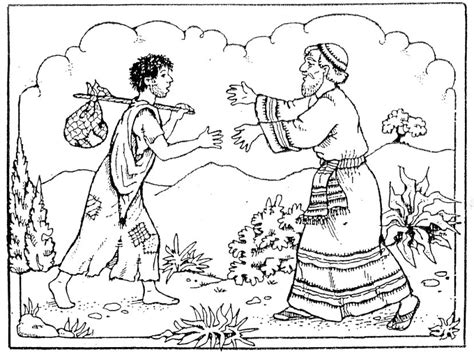 Free Coloring Pages Of The Parable Of The Lost Son Prodigal Coloring Page