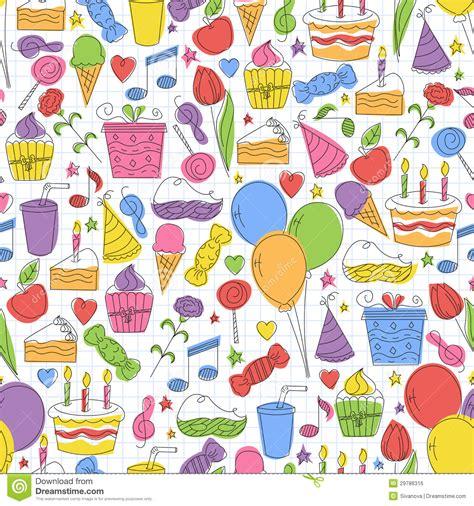 seamless pattern birthday colorful birthday seamless pattern royalty free stock