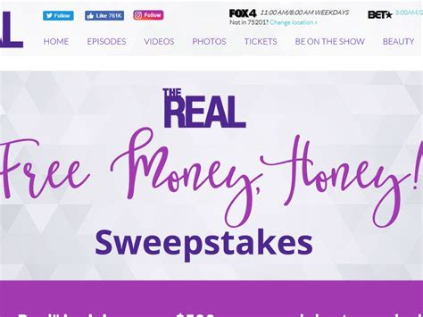 Sweepstakes Unlimited - the real free money honey sweepstakes sweepstakes fanatics