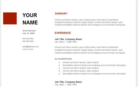 Resume Template For Docs by Resume Template Docs Learnhowtoloseweight Net