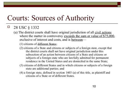 28 usc section 1332 subject matter jurisdiction diversity civil procedure