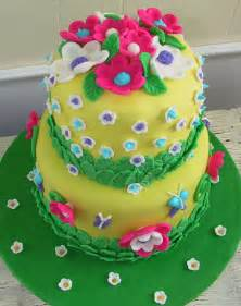 Butterflies flowers and fondant birthday cake the twisted sifter