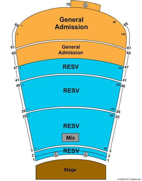 rock seating chart rocks hitheater morrison co seating chart view