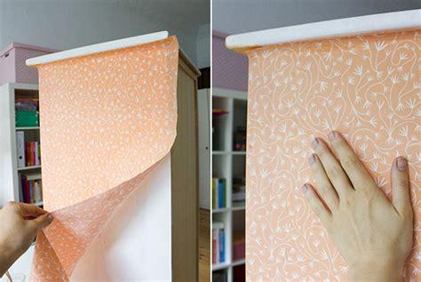 schrank tapezieren diy anleitung einen schrank mit stoff beziehen