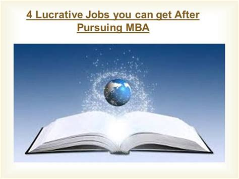Can You Get Mba Below 3 by 4 Lucrative You Can Get After Pursuing Mba Authorstream