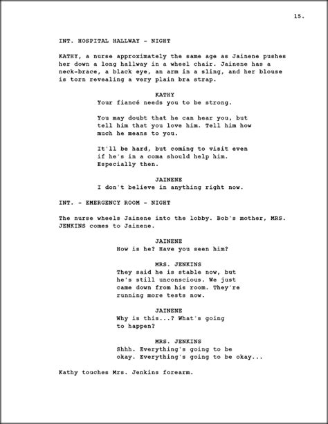 Original Screenplay Outline Exles Pdf Screenplay Format Template