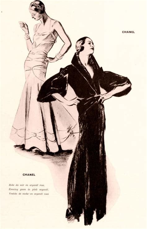 St Coco Chanel 1932 chanel evening pink organdi dress black coat