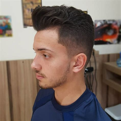 regular hairstyle mens men s regular cut with wavy pompadour