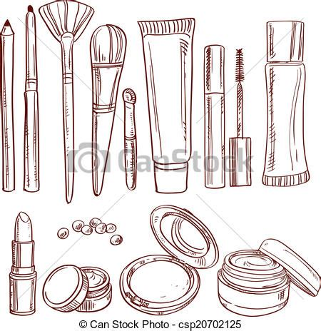 free pencil sketch up doodle theme vector illustration of set of doodles on cosmetics pencil