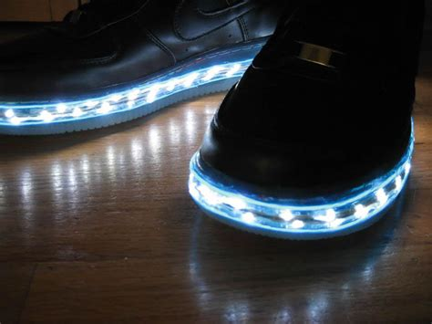 shoes that light up on the bottom lighted shoes enlighted illuminated clothing