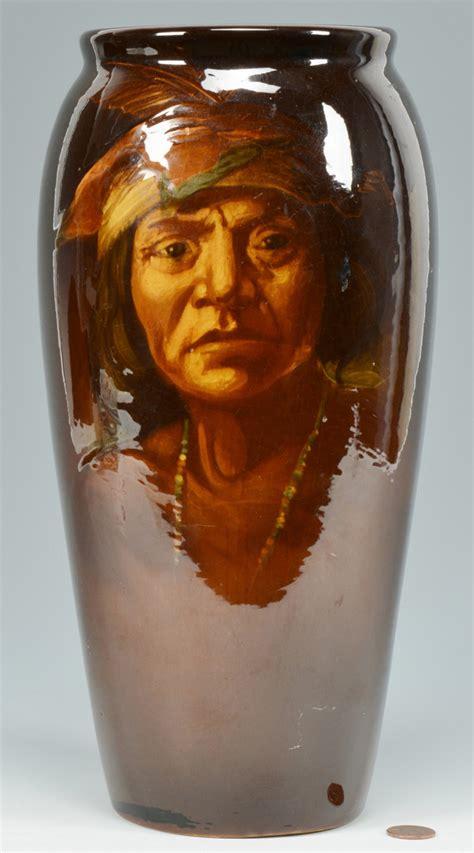 Weller Vase Prices Lot 577 Weller Pottery Indian Vase