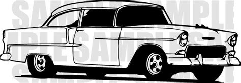 55 chevy clip art 55 chevy projects to try pinterest