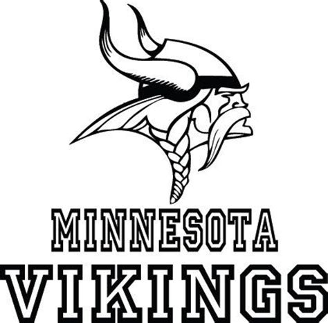 black and white vikings logo pictures to pin on pinterest