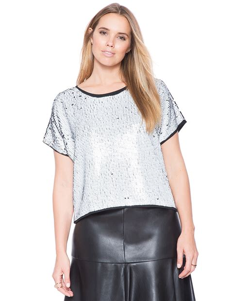 Bigsize Blouse Material Spandex Rayon Fit To Atasan studio sequin top s plus size tops eloquii