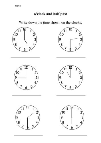 clock worksheets o clock and half past time worksheets 187 time worksheets ks1 oclock and half past