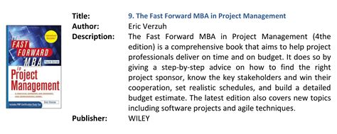 The Fast Forward Mba In Project Management 4th Edition Pdf by معرفي كتاب شرکت ره پردا