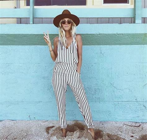 Overall Stripe Black best 25 striped jumpsuit ideas on striped