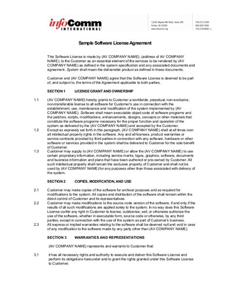 software license agreement template b2b sle software license agreement