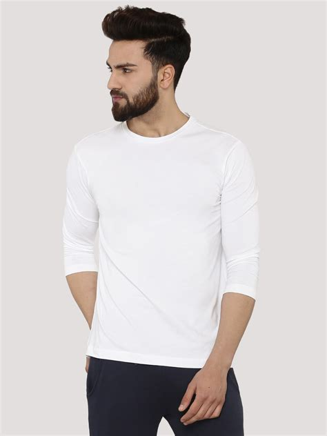 buy koovs 3 4 sleeve fit t shirt for s