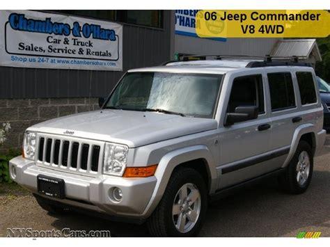 jeep commander silver 2006 jeep commander 4x4 in bright silver metallic 188834