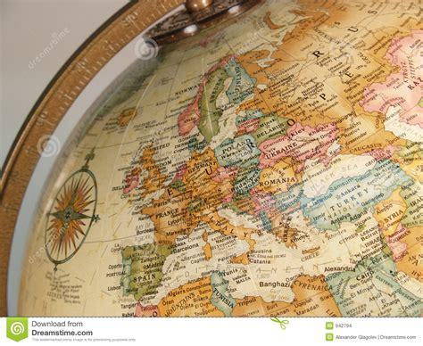 intern europe globe map stock images image 942794