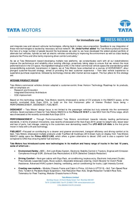 new year hotel press release tata motors truck production at jamshedpur press release