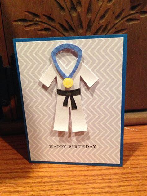 printable birthday cards karate handmade happy birthday card karate birthday card
