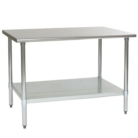 stainless steel work table eagle t3660se 36 quot x 60 quot stainless steel work table with undershelf