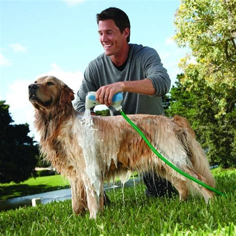 bathtub hose for washing dog rapidbath dog washer system works with your garden hose or shower cleans fido quick
