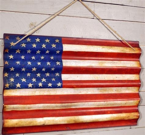 American Flag Wall Decor by Corrugated Metal American Flag Wall Farmhouse