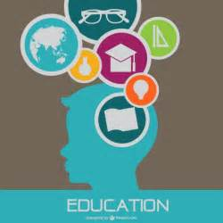 flat vector template education design vector free download