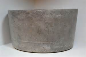 large gray concrete planter by rosebud designs