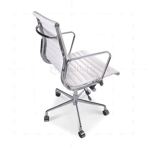 eames office chair high back ribbed leather white ea117 eames style office chair low back ribbed white leather
