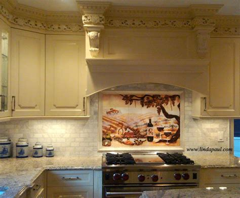 Kitchen Mural Backsplash More Sizes Installation Pictures Individual Accent Tiles For The Vineyard