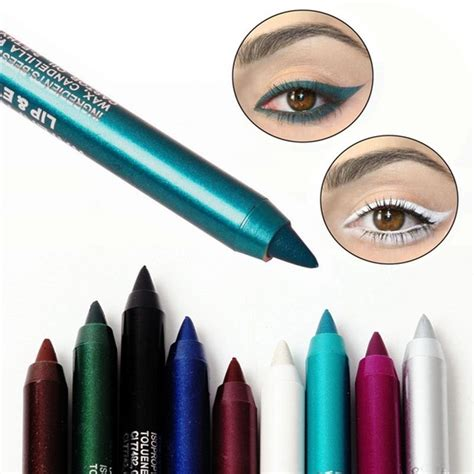Eyeliner 2 Color 2pc longlasting eye liner pencil pigment waterproof white color eyeliner makeup ebay