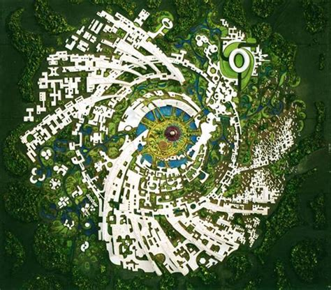 the galaxy concept of the city auroville