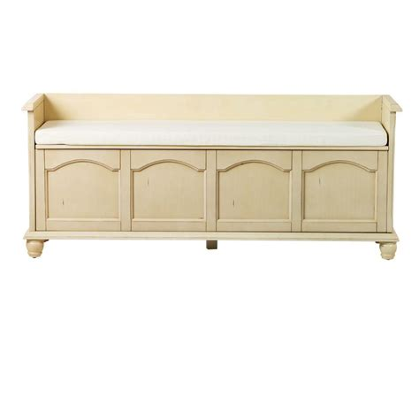 white bench with storage home decorators collection harwick antique white storage