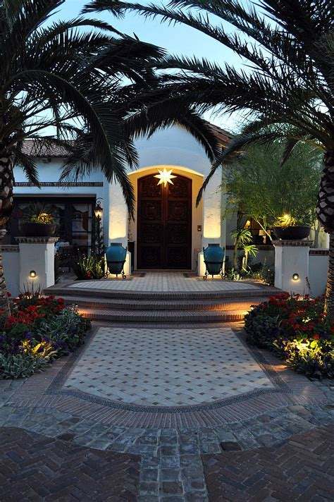 Outdoor Front Entry Lighting Mediterranean Entry Ideas An Air Of Timeless Majesty