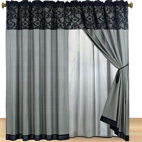 bed in bag with matching curtains 15pc gray noble harmony flocking comforter set king bed