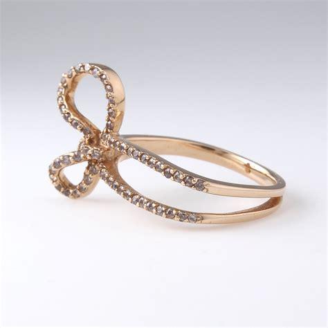 ribbon ring 14k solid gold bow ring 14k bow ring ribbon