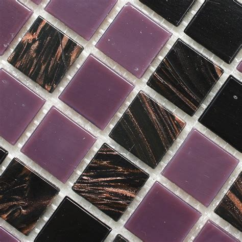 wholesale mosaic tile crystal glass backsplash kitchen crystal glass tile black purple wholesale kitchen
