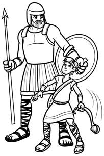 david and goliath coloring page pinning with purpose testament book
